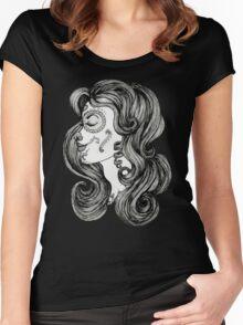Sugar Skull Sweetheart II Women's Fitted Scoop T-Shirt
