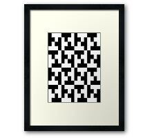 Black And White Tetris Blocks Framed Print