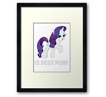 Rarity Is Best Pony - MLP FiM - Brony Framed Print