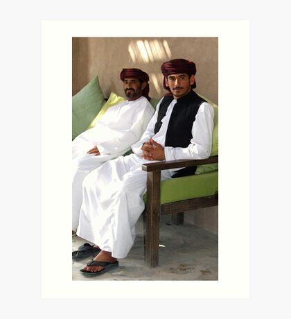 Sitting Men, Oman Art Print