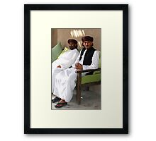 Sitting Men, Oman Framed Print