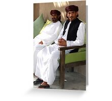 Sitting Men, Oman Greeting Card