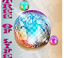 COLORFUL TREE OF LIFE CHECKERBOARD ORBS by LadyEvil