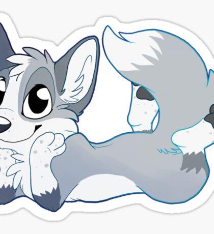 Content Fox Sticker