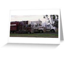 VTY station trucks Greeting Card