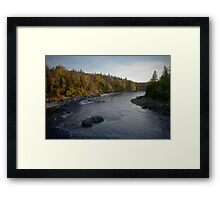 Coming Around The Bend Framed Print