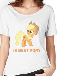 Applejack Is Best Pony - MLP FiM - Brony Women's Relaxed Fit T-Shirt