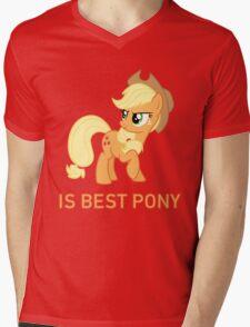 Applejack Is Best Pony - MLP FiM - Brony Mens V-Neck T-Shirt