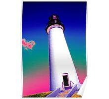 Rainbow Lighthouse Poster