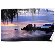 """""""Sunrise Horseshoe Bay Bowen"""" Poster"""
