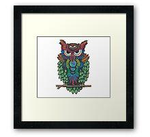 Cosmic Owl Framed Print
