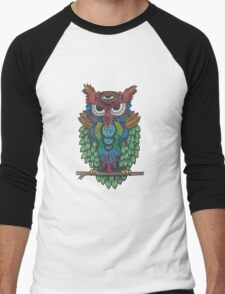 Cosmic Owl Men's Baseball ¾ T-Shirt