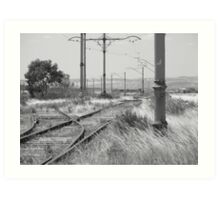 What Time Is The Next Train  Art Print