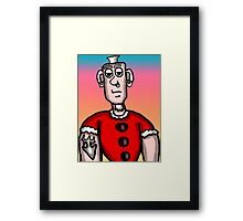 Santa Sailor Framed Print