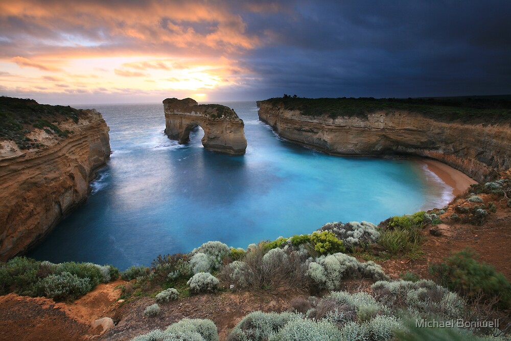 Island Arch, Great Ocean Road, Australia by Michael Boniwell