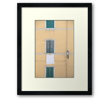 Italian Countryside Windows Framed Print