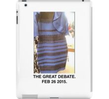 Black and Blue? White and Gold? iPad Case/Skin