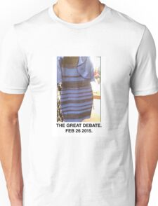 Black and Blue? White and Gold? Unisex T-Shirt