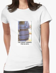 Black and Blue? White and Gold? Womens Fitted T-Shirt