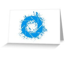 Portal Aperture Science Splatter Logo Greeting Card