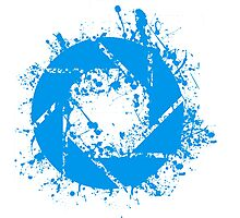 Portal Aperture Science Splatter Logo Photographic Print