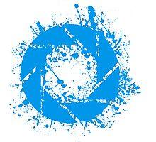 Portal Aperture Science Splatter Logo Photographic Print
