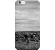 High Country Grazing B & W iPhone Case/Skin