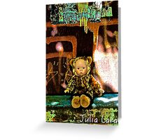 Back Alley Leopard Doll  Greeting Card