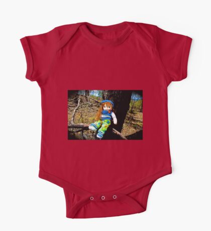 Burnt Timber No Nose Doll  One Piece - Short Sleeve