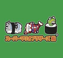 Super Mario Bros Sushi by thickblackoutline