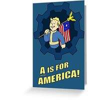 A is for America Greeting Card
