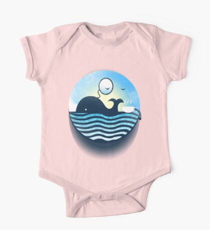 Sir Of Whales Tea Time One Piece - Short Sleeve