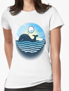 Sir Of Whales Tea Time Womens Fitted T-Shirt
