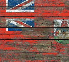 Flag of Bermuda on Rough Wood Boards Effect by Jeff Bartels