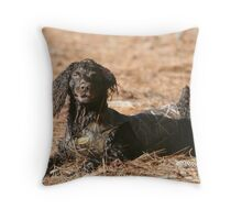Just being Mule Throw Pillow
