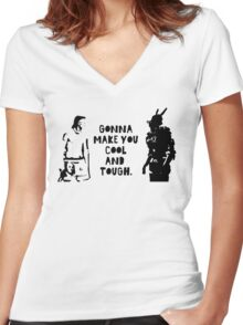 Cool and Tough Women's Fitted V-Neck T-Shirt