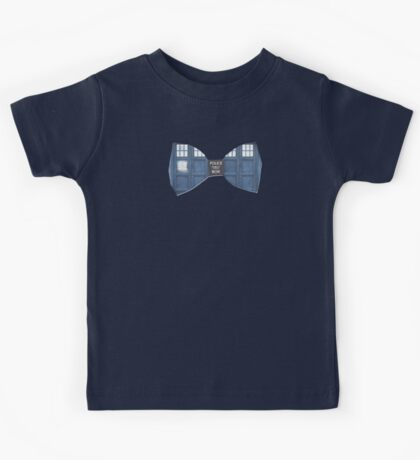 """Bow Ties ARE Cool."" - Dr. Who (Bow tie image only) Kids Tee"