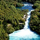 Huka Falls by Cathryn Swanson