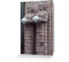 The Stone men Greeting Card