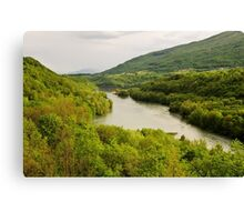 Springtime on the Rhone valley Canvas Print