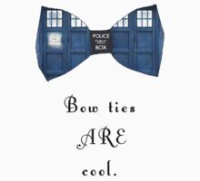 """Bow Ties ARE Cool."" - Dr. Who (image + quote) Kids Clothes"