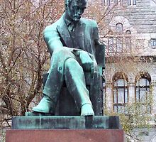Aleksis Kivi (1834-1872), statue in Helsinki by Alan Hogan
