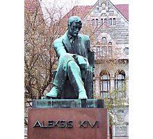 Aleksis Kivi (1834-1872), statue in Helsinki Photographic Print