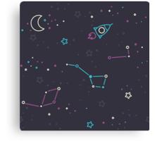 Let's discover the Universe! Adventure time doodle space image.  Canvas Print