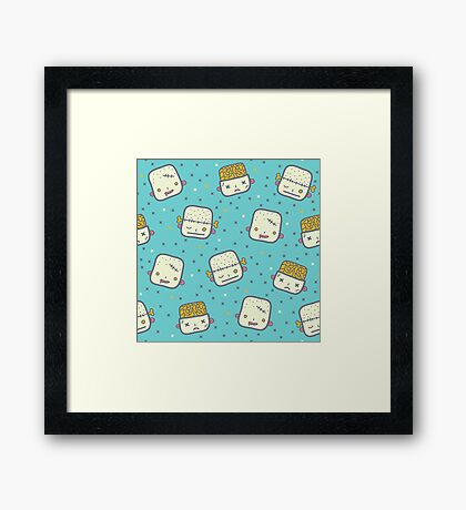 We love brains! Framed Print