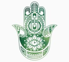 Green Hamsa Hand One Piece - Long Sleeve