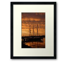 alma doepel sunset Framed Print