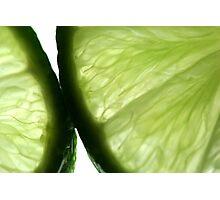 Sliced Limes Photographic Print