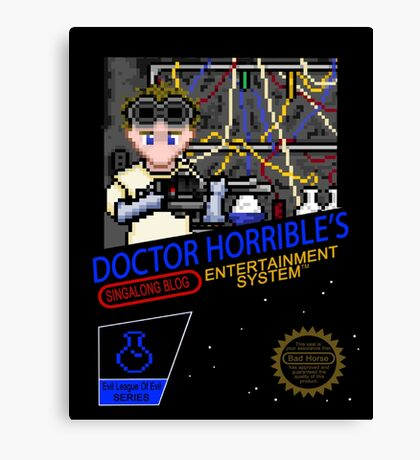 NINTENDO: NES DOCTOR HORRIBLE  Canvas Print