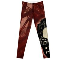 Dale Cooper and The Black Lodge Leggings